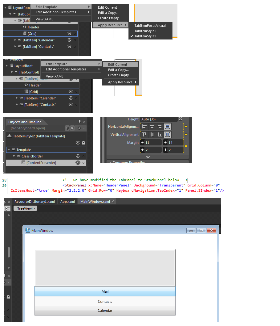 Lovely Wpf Tabcontrol Template Photos - Examples Professional Resume ...